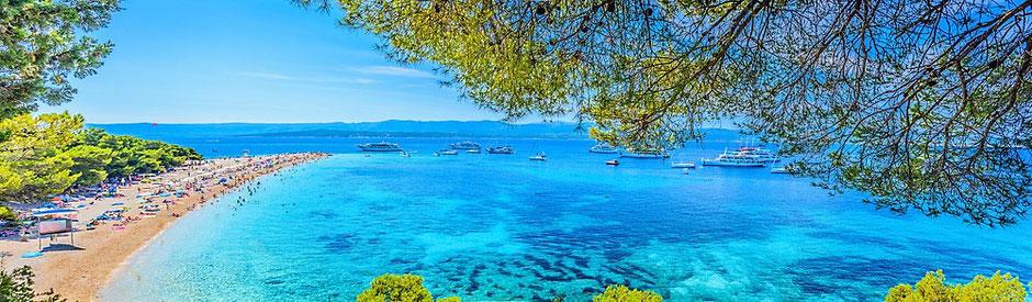 Flottillensegeln Kroatien ab Split und Trogir, Ankerplatz Goldenes Horn auf Brac
