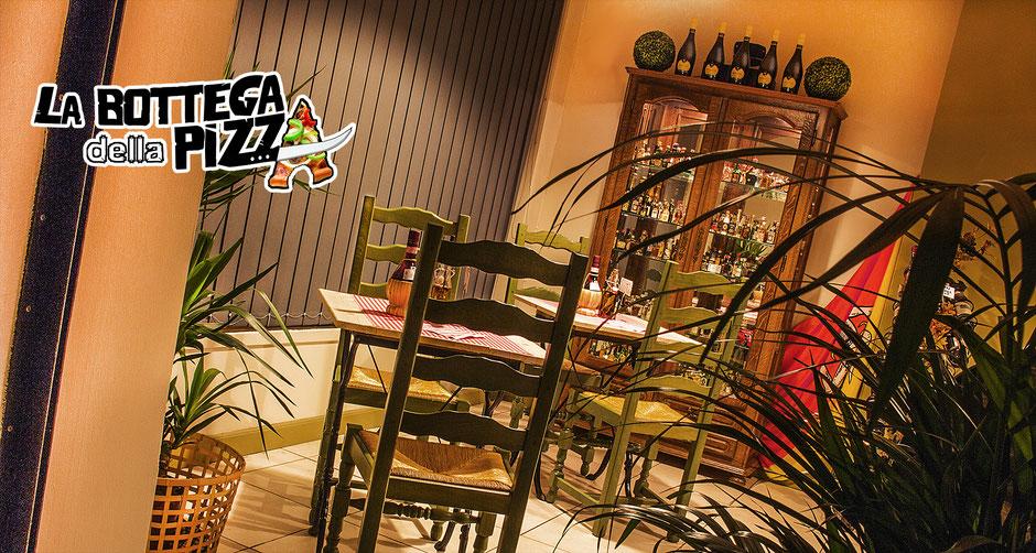 Places assises, mangé sur place et à emporter à la bottega della pizza