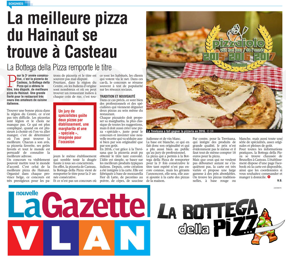 Les meilleures pizza de la région du Hainaut à Casteau, Soignies, en Belgique. Les meilleurs restos italiens de Belgique par Gael Magazine