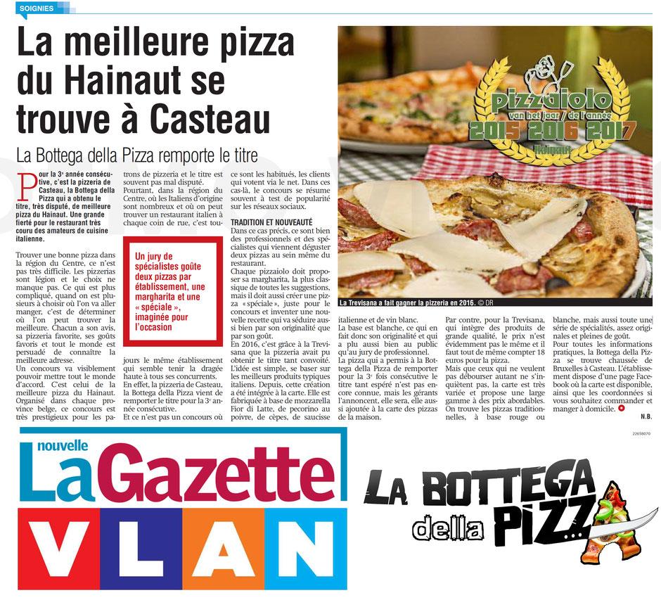 Les meilleures pizza de la région du Hainaut à Casteau, Soignies, en Belgique. Les meilleurs restos italiens de Belgique par Gael Magazine