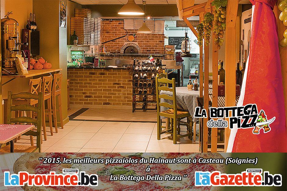 2015, les meilleurs pizzaiolos du Hainaut sont à Casteau (Soignies) à La Bottega Della Pizza