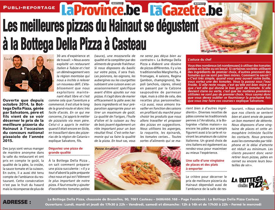 Les meilleures pizzas de la région, à la bottega della pizza à casteau, soignies, dans la région du hainaut en belgique, pizza cuites au feu de bois
