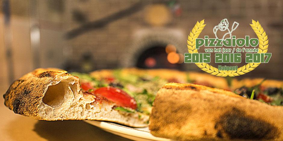 la bottega della pizza, meilleures pizza du hainaut, pizzaiolo de l'année 2015 2016 2017