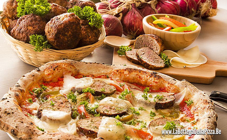 Pizza aux boulettes de viandes, pizza pecorino sicilienne, pizza sicilienne, les meilleures pizza de la région, best pizza in Belgium, les meilleures pizza de Belgique, pizza napoletana, pizza doc, vera pizza italiana, nimy, maisière, casteau, mons