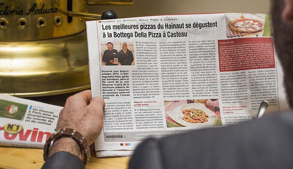 Les meilleures pizzas du Hainaut se dégustent à la Bottega della pizza, meilleurs restaurent Italien de la région
