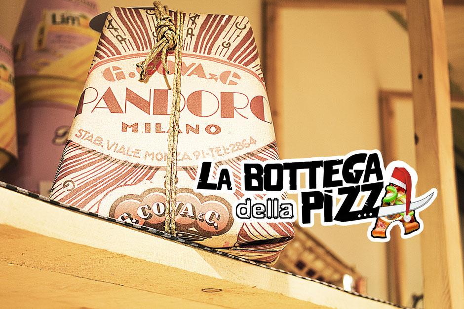 la bottega della pizza, joyeuse fêtes de fin d'années, joyeux noël, 2018, pizzeria à proximité de Maisières, Nimy, Hornu, Mons, Soignies, Gottignies, Shape. En photo Pandoro Milano