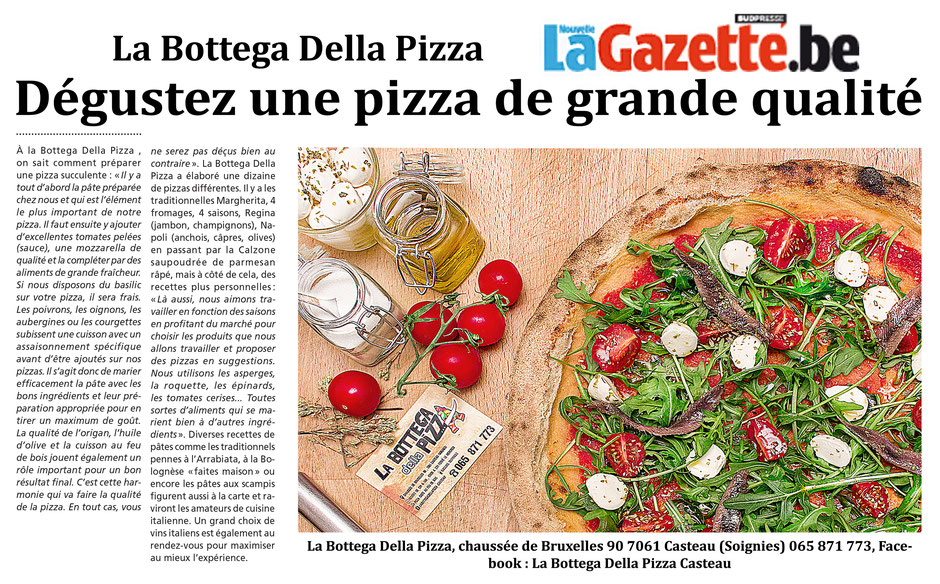La Bottega Della Pizza, à proximité du Shape de Maisière, une pizza de Grand qualitée à Casteau, Soignies, Mons, dans la région du Hainaut en Belgique