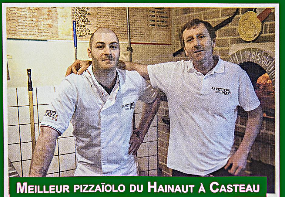 Les meilleurs pizzaiolo de la région du Hainaut, élue à plusieurs reprises pendant les grand coucours des meilleurs pizzaiolo de Belgique, par Foodprint, pizzaiolo de l'année