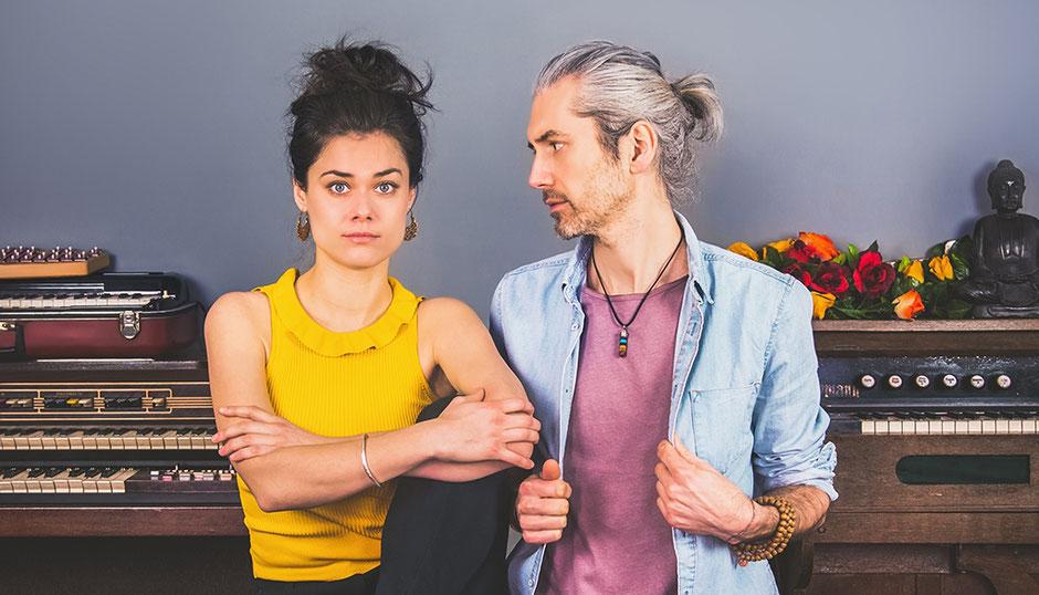 "Das Pop-Duo ""Berge"": Marianne Neumann und Rocco Horn. (c) Asmara Cimignolo"