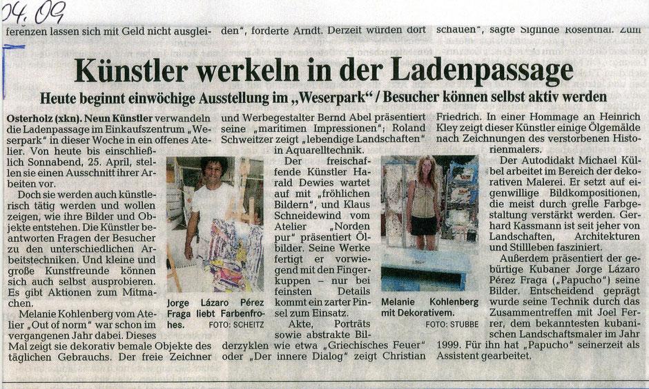 2009 April, Ausstellung im Weserpark