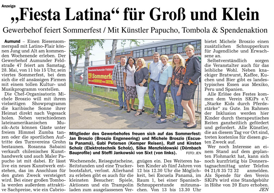 Sommerfest 28. Mai 2016 in Bremen Nord. (Eescuela Panamá)