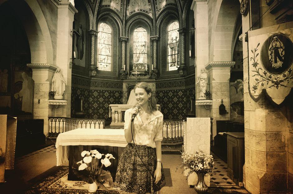 Chanteuse & pianiste •messe de mariage, baptême, obsèques •chant d'église liturgique & gospel •animatrice •animation de cérémonie •Angers Nantes Rouen Tours Rennes