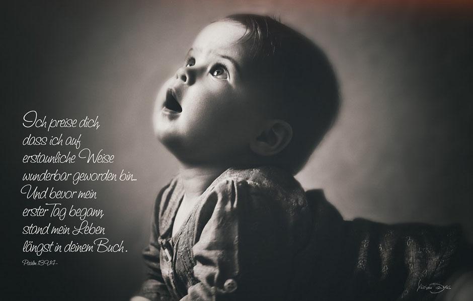 Kinder Portrait, Christliche Spruchkarten, Psalm 139,14