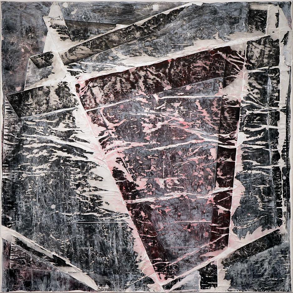 Katharina Lehmann, Black Fog no.2, 150 x 150 cm, 2019 · Acrylic on canvas