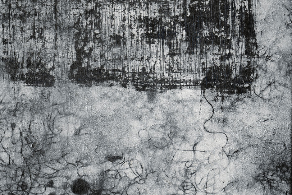 Katharina Lehmann, Breeze no.2, 50 x 40 cm / 20 x 16 in, 2019 · Acrylic, pencil on canvas · closeup