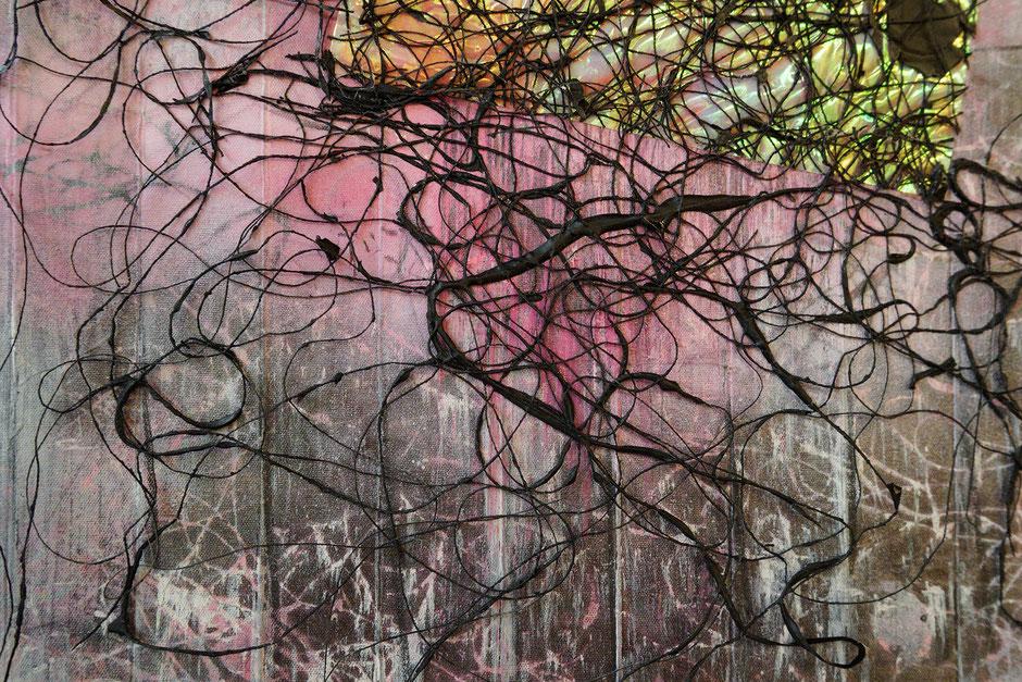 Katharina Lehmann, Transcendent Shapes no. 5, Ø 33 cm, 2019 · closeup