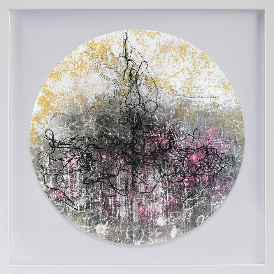 Katharina Lehmann, Transcendent Shapes no. 6, Ø 33 cm, 2019 · framed