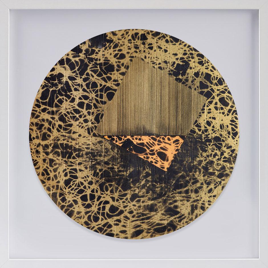 Katharina Lehmann, Transcendent Shapes no. 2, Ø 33 cm, 2019 · framed