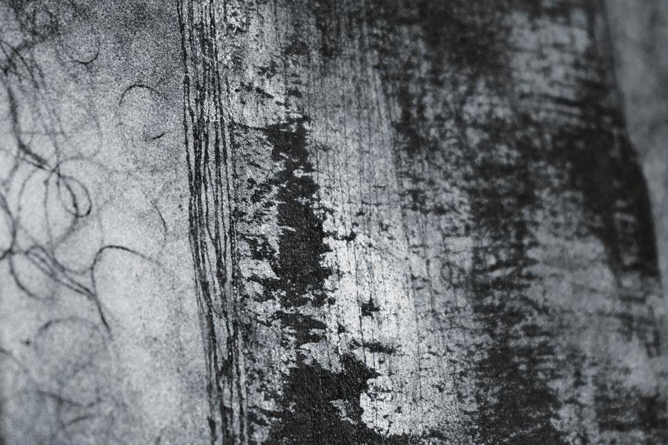 Katharina Lehmann, Breeze no.1, 30 x 20 cm / 12 x 8 in, 2019 · Acrylic, pencil on canvas · closeup