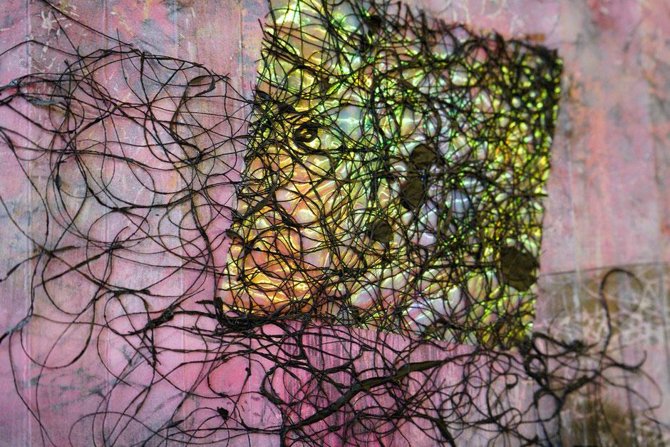 Katharina Lehmann, Transcendent Shapes no. 5, Ø 33 cm, 2019 · framed