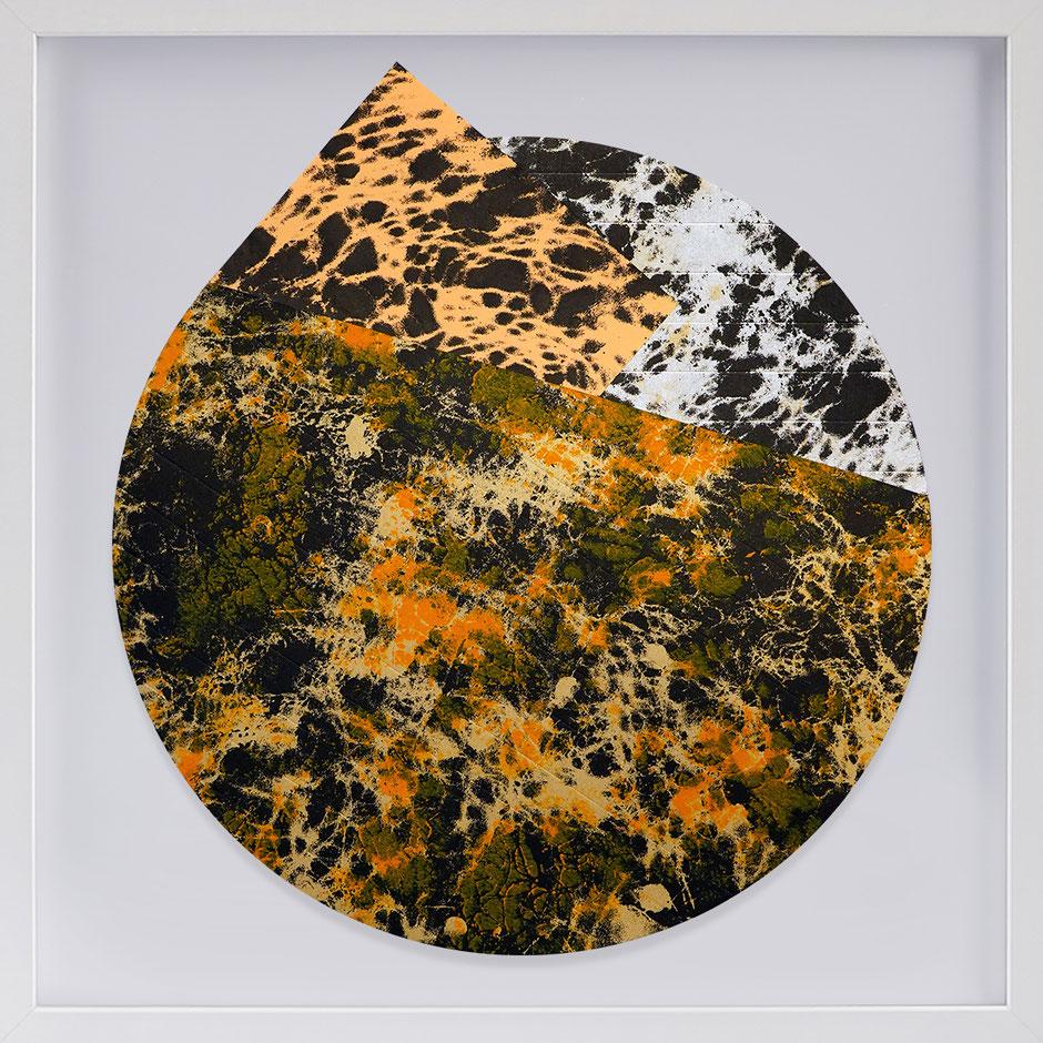 Katharina Lehmann, Transcendent Shapes no. 8, Ø 33 cm, 2019 · framed
