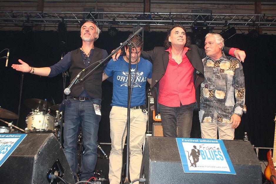 Eric Lavalette Band : Greg, Jérémy, Eric et Jeff.