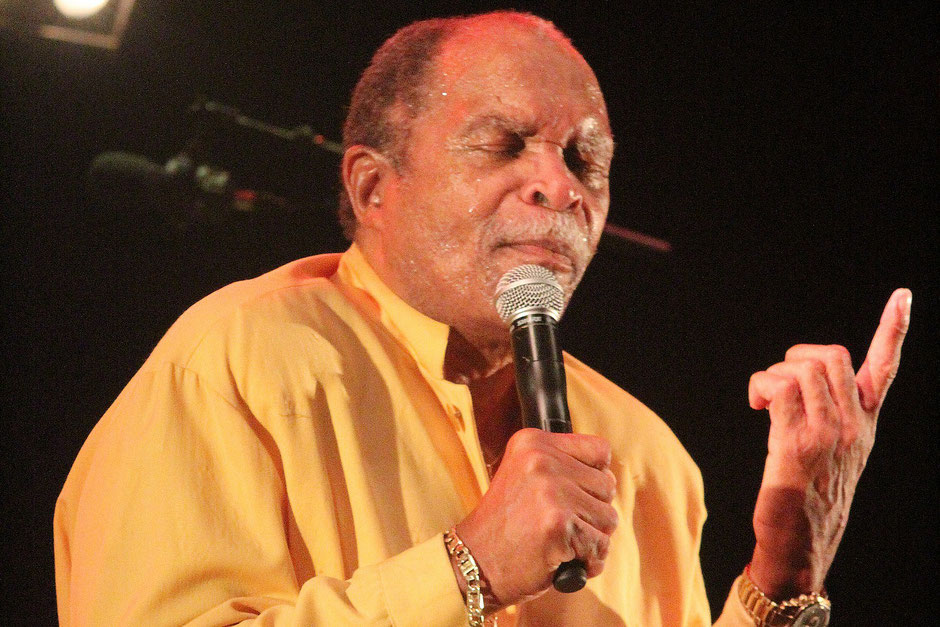 Otis Clay à Cognac en 2015. Photo Jean-Pierre Vinel.