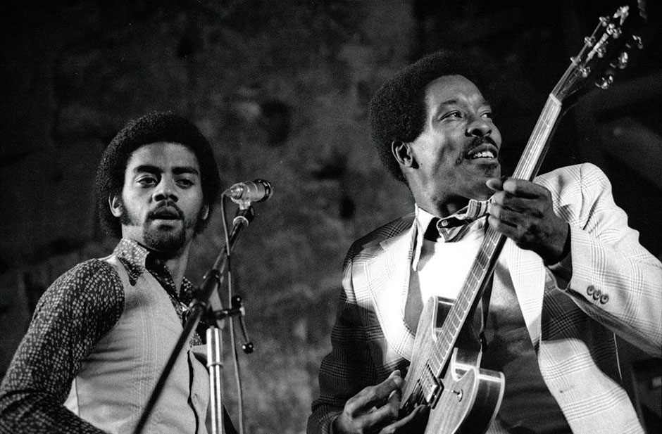 Kenny Neal et Buddy Guy. Orange, été 1978.