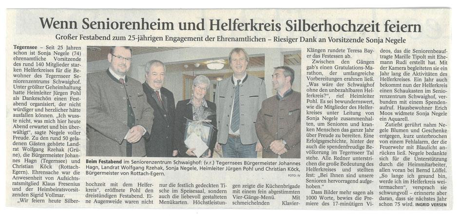 Der unbezahlbare Helferkreis des Seniorenzentrum Schwaighof