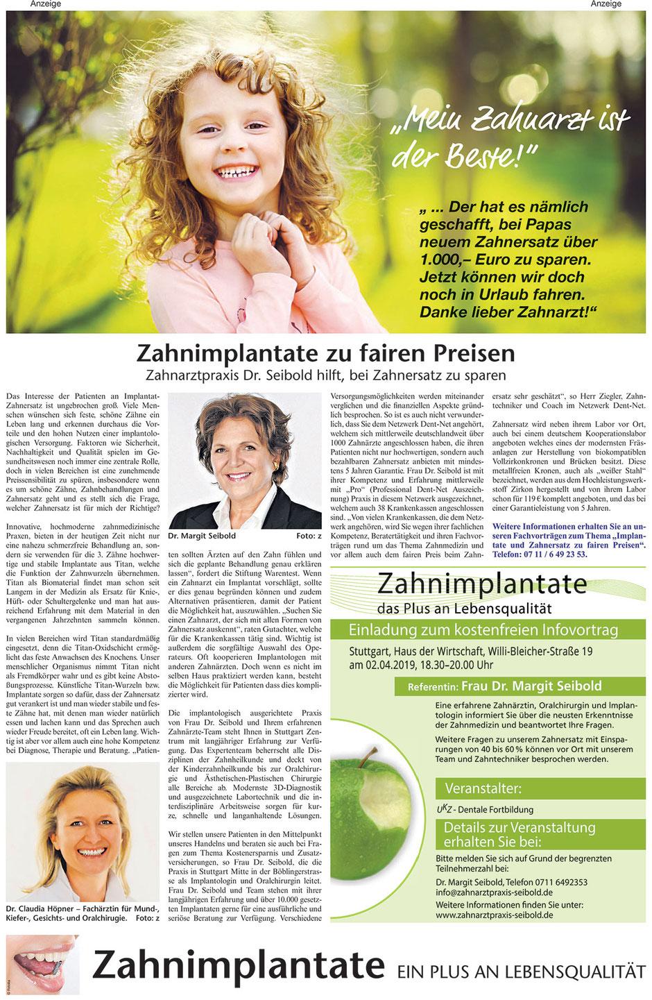 Aktueller Bericht in der Stuttgarter Zeitung