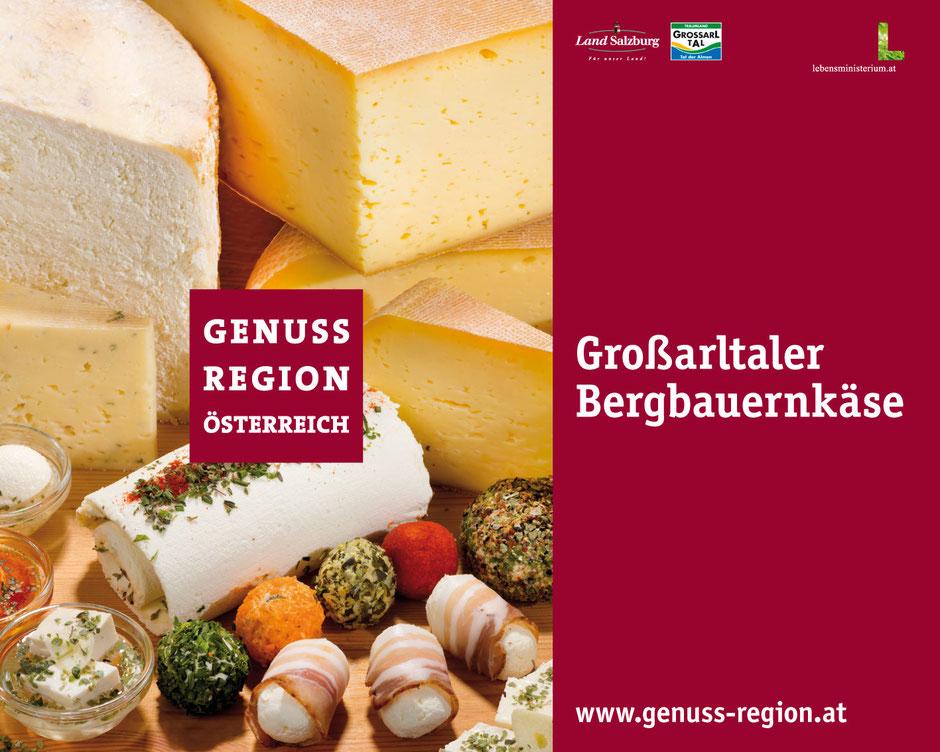 Logo der GenussRegion Großarltaler Bergbauernkäse