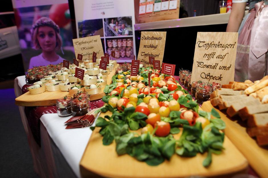 Verschiedene Varianten von Topfenkugerl bei der Wein-und Genuss-Gala 2019