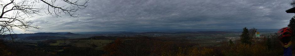 Blickrichtung Westen vom Dreifürstenstein