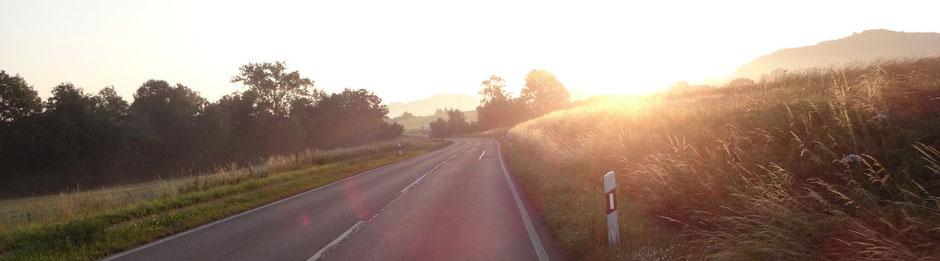 Um 6 Uhr auf der Anfahrt nach Ottenbach