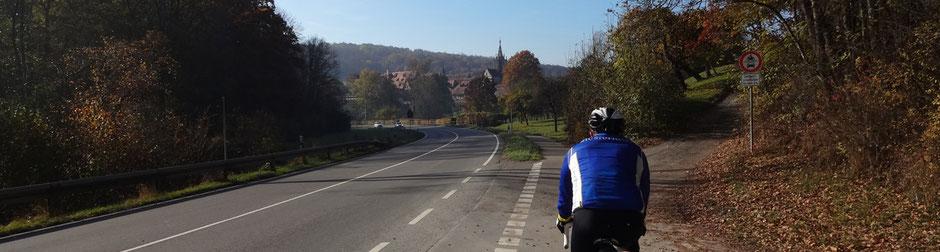 Auf dem neuen Radweg vor Bebenhausen
