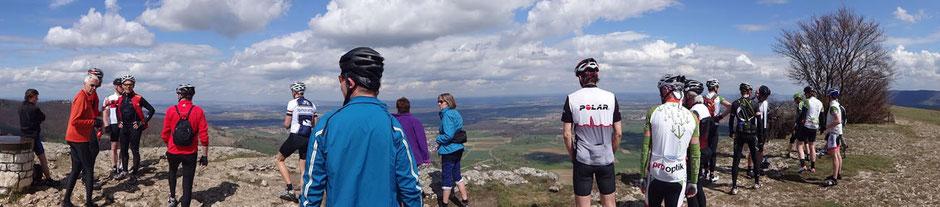 Das Felsplateau Breitenstein bietet mit seinen 811 m einen phantastischen Panoramablick