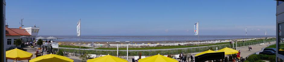 Bild: Panoramablick vom Balkon der Ferienwohnung Nr.19 Residenz Meeresbrandung