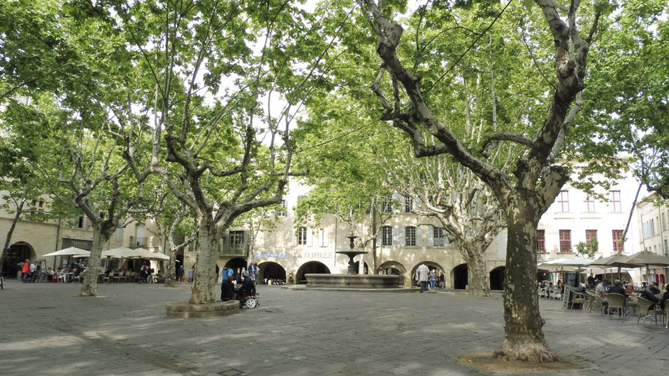 The beautiful old town of Uzès, Provence (South of France)