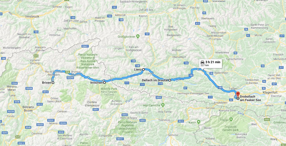 Our train and e-bike tour from Brixen to Drobollach at Lake Faak, Austria