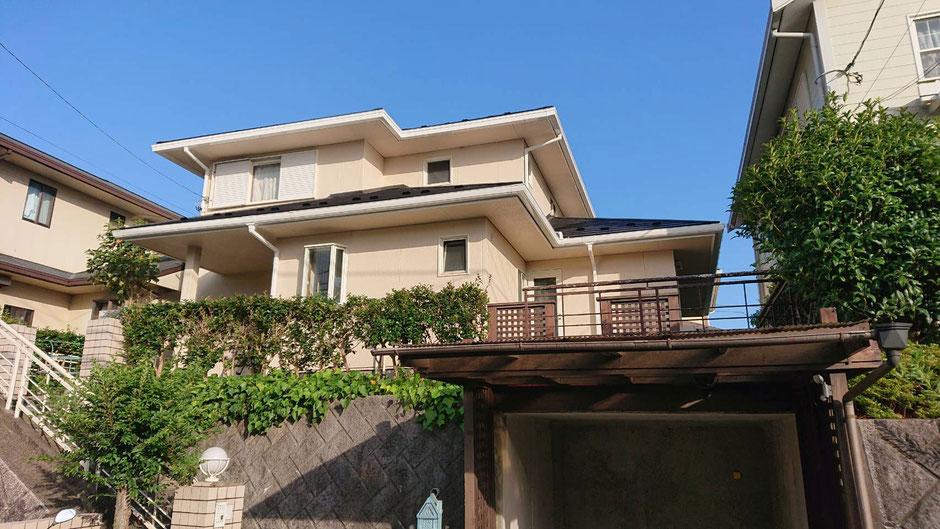 市原市ちはら台東の屋根カバー工法、外壁塗装工事後の画像