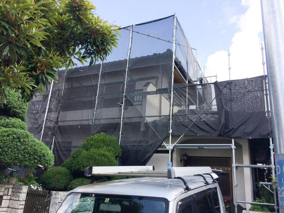 千葉市若葉区都賀の台で外壁塗装!