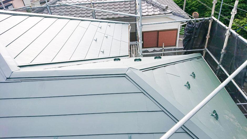 千葉市若葉区大宮町の屋根カバー工法終了