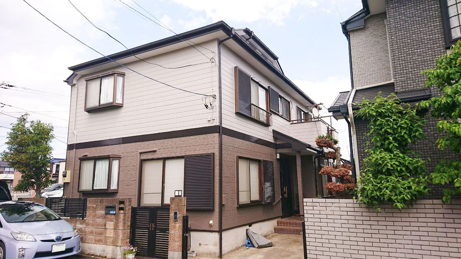 鎌ケ谷市南初富の屋根外壁塗装 塗装後