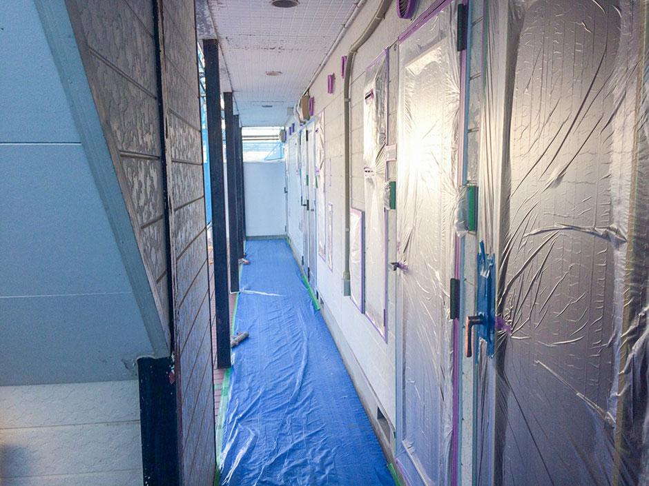 松戸市 アパート塗装 ドア