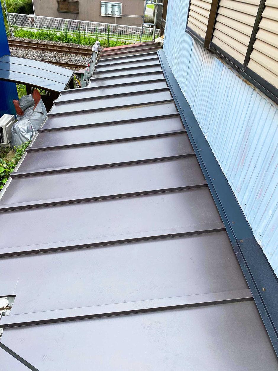 千葉市中央区塩田町の屋根の葺き替え