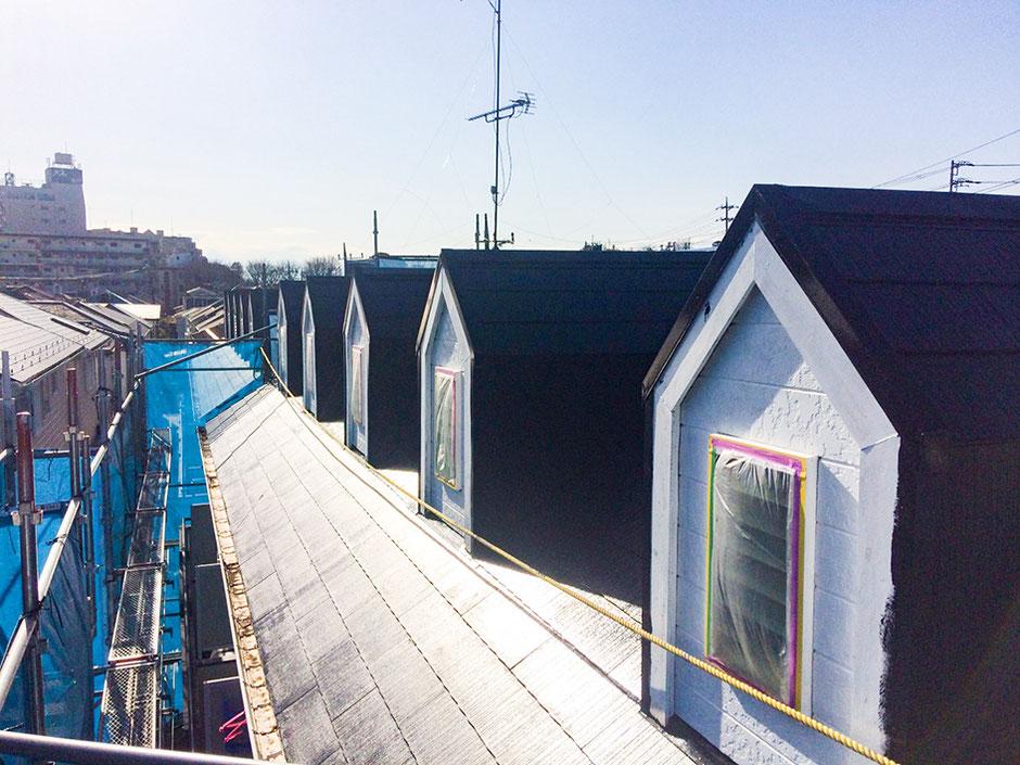 松戸市 アパート塗装 屋根