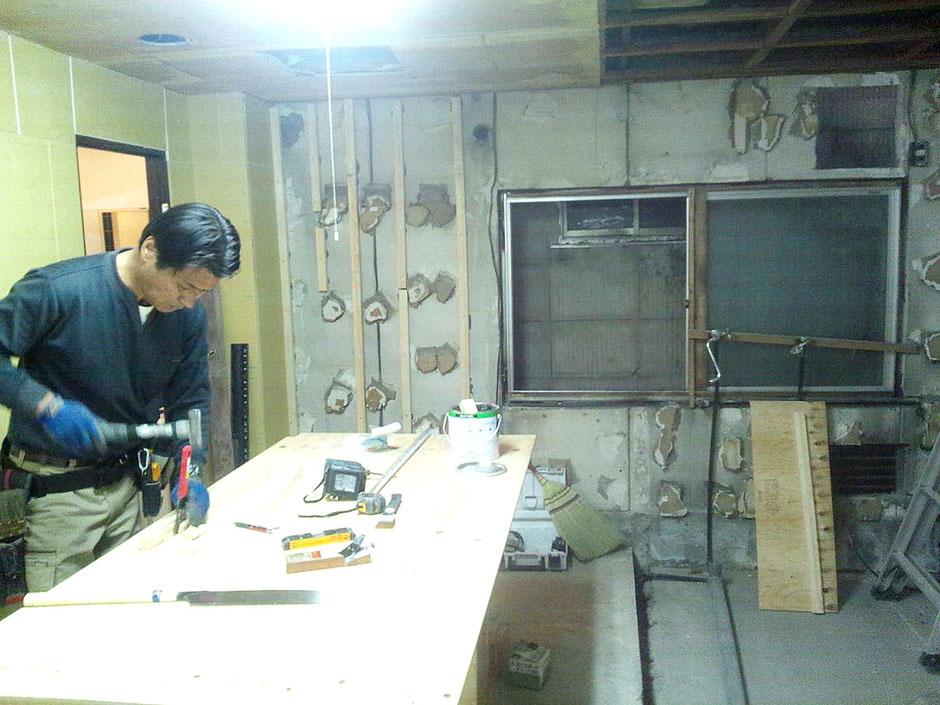 店舗の内装改修工事
