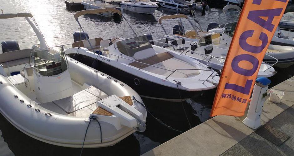 location bateau et semi-rigide au Lavandou Var 83