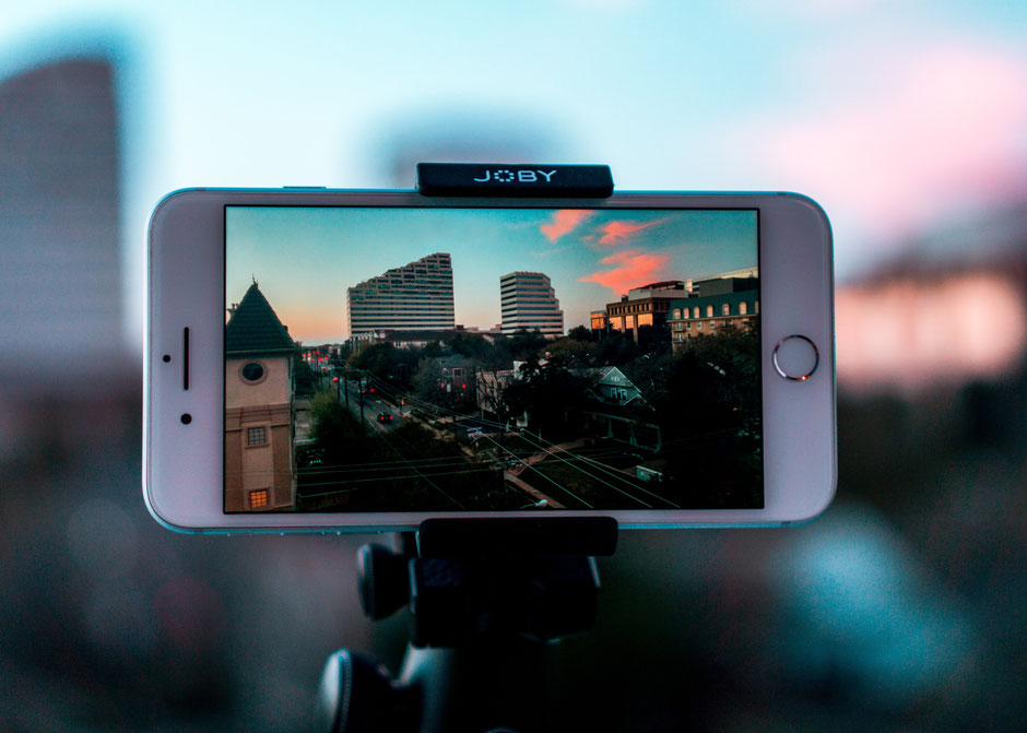 Smartphone on a Joby gorillapod shooting a video