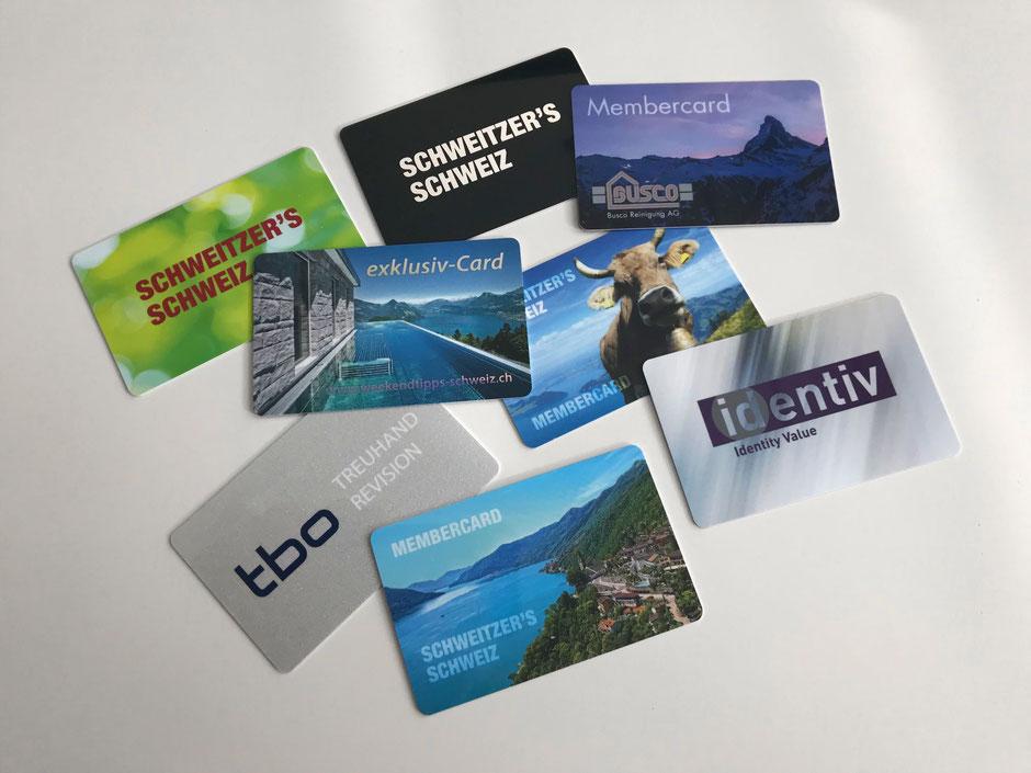 exklusiv-Card und Membercard können frei gestaltet und mit diversen Drucktechniken veredelt werden